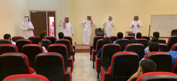 The Dean and Vice Deans of the College of Medicine in Al-Qunfudhah Welcome the New Students