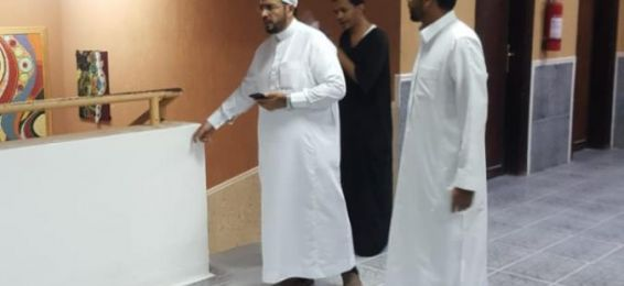 Dean of Al-Qunfudhah University College Checks on the Maintenance Work of the College's Study Halls and Facilities