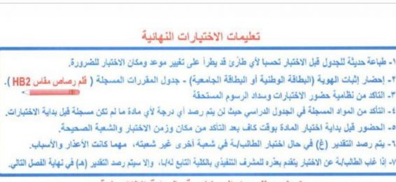Very Important Instructions for the Final Exams of the Affiliation Program Students