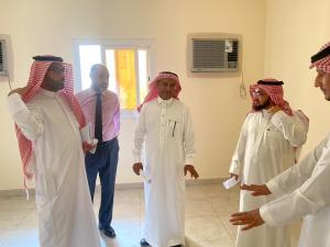 The Dean and Vice Deans of Al-Qunfudhah University College Make an Inspection Visit to the New Building (B)