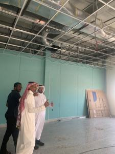 His Excellency the Dean of Al-Qunfudhah University College Checks on the Building of the New Study Halls