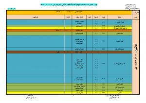 Qunfudah University College Affiliate Students Alternative Tests Schedule, Sem1 1438/1439H