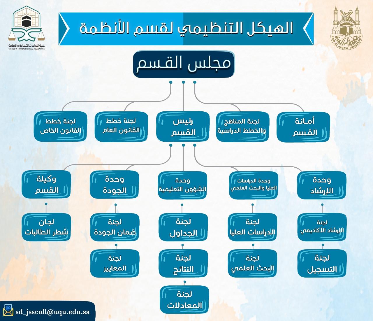 الهيكل التنضيمي لقسم الأنظمة