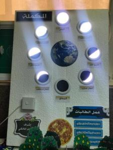 قسم العلوم الأساسية بأضم يقيم معرض (كوكب العلوم)