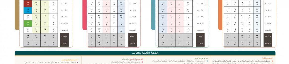 التقويم الزمني للفصل الثاني من العام الجامعي 1440 - 1441هـ