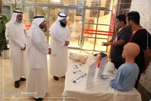 وكيل الجامعة يدشن فعالية اليوم العالمي للإسعافات الأولية بالمركز الطبي الجامعي
